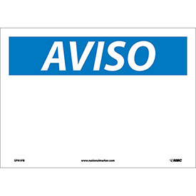 Spanish Vinyl Sign - Aviso Blank