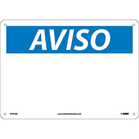 Spanish Plastic Sign - Aviso Blank