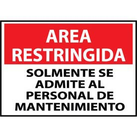 Restricted Area Plastic - Spanish - Solomente Se Admite Al Personal De