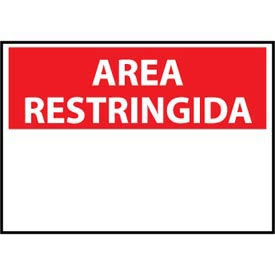 Restricted Area Aluminum - Spanish - Area Restringida Blank with Header Only