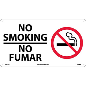 Bilingual Plastic Sign - No Smoking