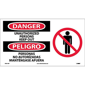 Bilingual Vinyl Sign - Danger Unauthorized Persons Keep Out