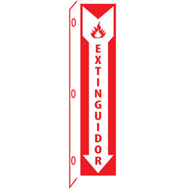Fire Flange Sign - Spanish - Extinguidor