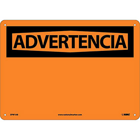 Spanish Aluminum Sign - Advertencia Blank