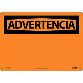 Spanish Plastic Sign - Advertencia Blank