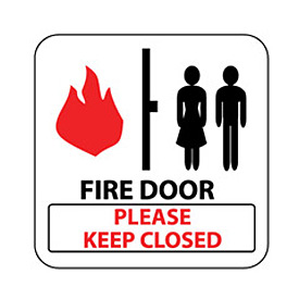 Pan-A-Vue Sign - Fire Door Please Keep Closed