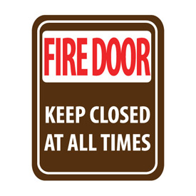 Pan-A-Vue Sign - Fire Door Keep Closed At All Times