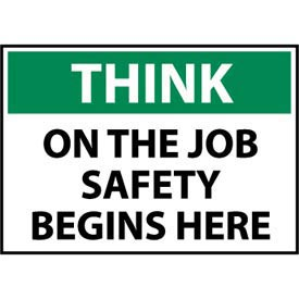 Think Osha 7x10 Vinyl - On The Job Safety Begins Here
