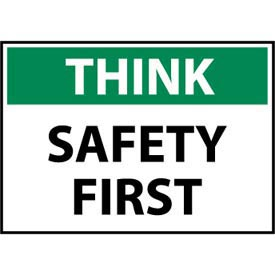 Think Osha 10x14 Rigid Plastic - Safety First
