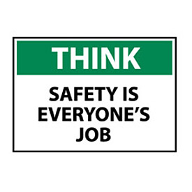 Think Osha 7x10 Vinyl - Safety Is Everyone's Job