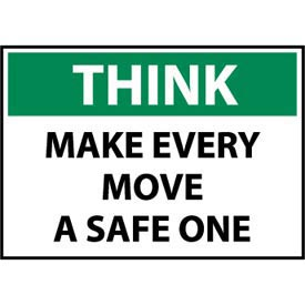 Think Osha 10x14 Plastic - Make Every Move A Safe One