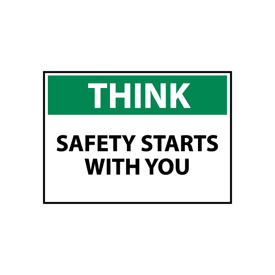 Think Osha 10x14 Aluminum - Safety Starts With You