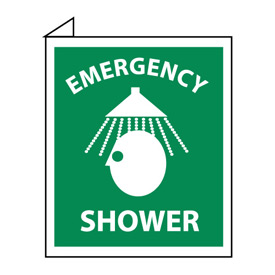 Facility Flange Sign - Emergency Shower
