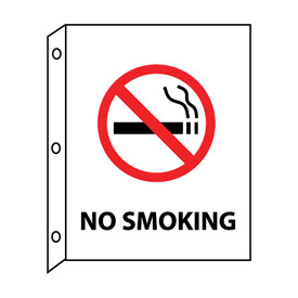 Fire Flange Sign - No Smoking