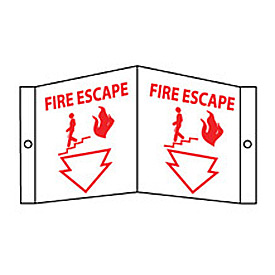 Fire Visi Sign - Fire Escape