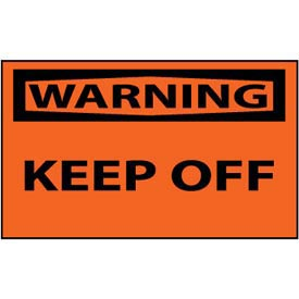 Machine Labels - Warning Keep Off