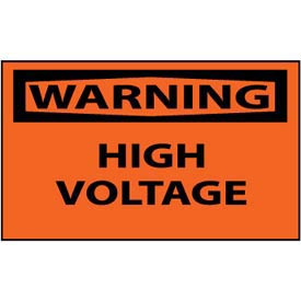 Machine Labels - Warning High Voltage