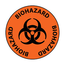 Walk On Floor Sign - Biohazard