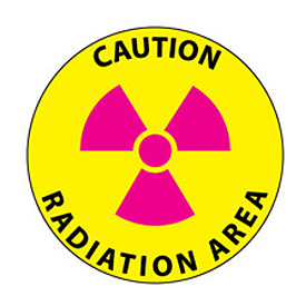 Walk On Floor Sign - Caution Radiation Area