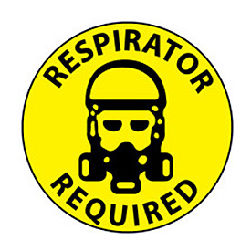 Walk On Floor Sign - Respirator Required