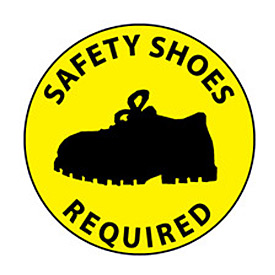 Walk On Floor Sign - Safety Shoes Required