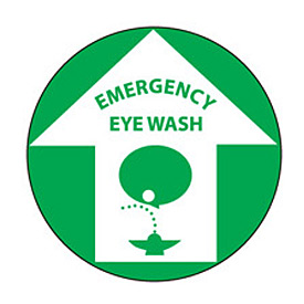 Walk On Floor Sign - Emergency Eye Wash