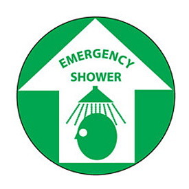 Walk On Floor Sign - Emergency Shower
