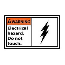 Graphic Machine Labels - Warning Electrical Hazard Do Not Touch