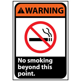 Warning Sign 14x10 Vinyl - No Smoking Beyond This Point