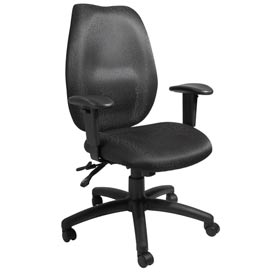 Boss Multifunction Task Chair with Seat Slider - Fabric - High Back - Black