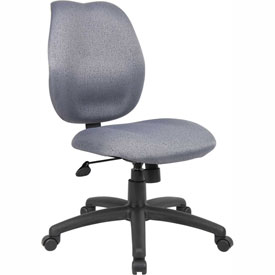 Boss Task Chair - Fabric - Mid Back - Gray
