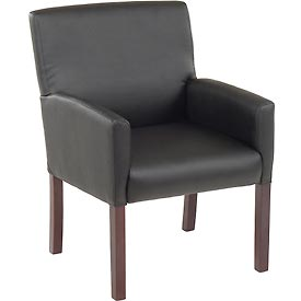 Reception Guest Chair - Vinyl - Black
