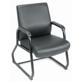 Boss Reception Guest Chair - Vinyl - Black