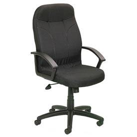 Boss Office Chair with Arms - Fabric - High Back - Black