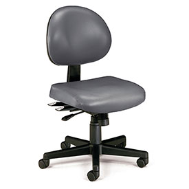 OFM Antimicrobial 24 Hour Task Chair - Vinyl - Mid Back - Charcoal