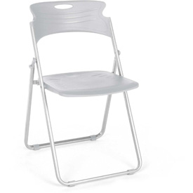 OFM Flexure Folding Chair, Plastic, Dove Gray - Pkg Qty 4
