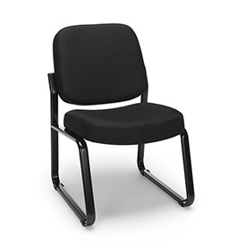 OFM Reception Guest Chair - Fabric - Mid Back - Black