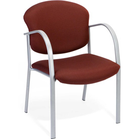 Contract Fabric Upholstered Arm Chair - Burgundy