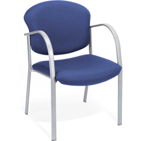 Contract Fabric Upholstered Arm Chair - Ocean Blue