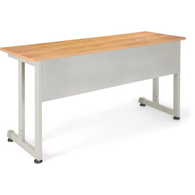 "Modular Training/Utility Table 55""Wx20""D - Maple & Silver"