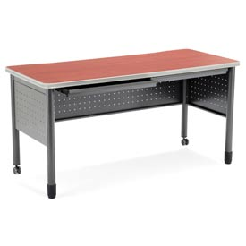 """Mesa Series - Table with Drawers 25.5""""Dx55""""W - Cherry"""