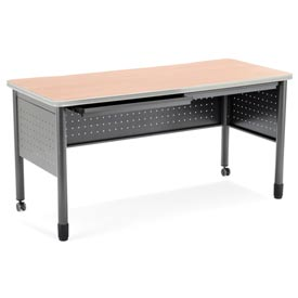 "OFM Steel Desk with Pencil Drawer - 25-1/2""D x 59""W - Maple - Mesa Series"
