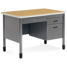 "Mesa Series - Sales Desk with Center Drawer 26-1/2""Dx42W"" - Oak"