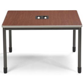 "OFM Workstation Desk - 48""W x 48""D - Cherry - Mesa Series"