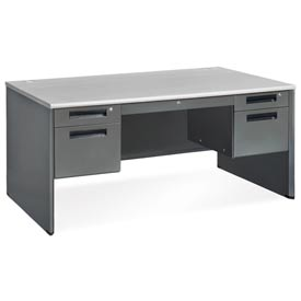 "Executive Series - Panel End Desk 30""Dx60""W - Gray Nebula"