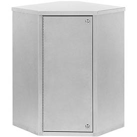"Omnimed® Corner Single Door Narcotic Cabinet with 2 Shelves, 22-3/4""W x 15-5/8""D x 24""H"