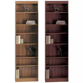 Wood Veneer - Full Height, Assembled Bookcases