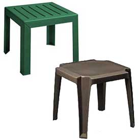 Outdoor Resin & Melamine Accent Tables