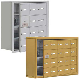 Salsbury 19100 Series Cell Phone Lockers, Recessed Mounted, Keyed Lock with Front Master Access Panel