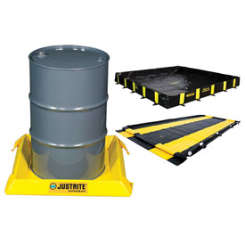 Justrite Water Filled Boom Diverters